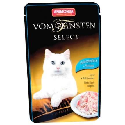 Влажный корм для кошек Animonda Vom Feinsten Select, курица, морской лещ, 85г