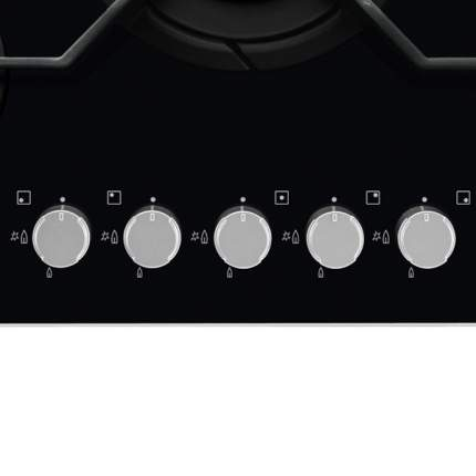 Встраиваемая варочная панель газовая Electrolux EGT97353YK Black