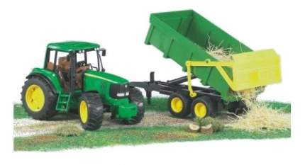 Трактор Bruder John deere 6920 с прицепом