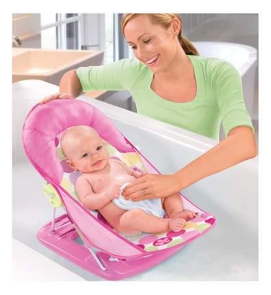 Лежак с подголовником для купания deluxe baby bather, розовый