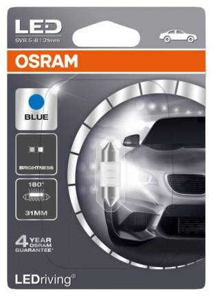 Лампа светодиодная автомобильная OSRAM 12V 0.5W 12V SV8.5-8 (6431BL-01B)