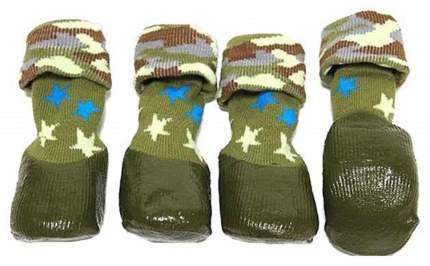 Носки для собак БАРБОСки размер XXS, 4 шт зеленый