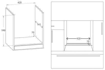 Встраиваемый электрический духовой шкаф Korting OKB 4941 CRN Black