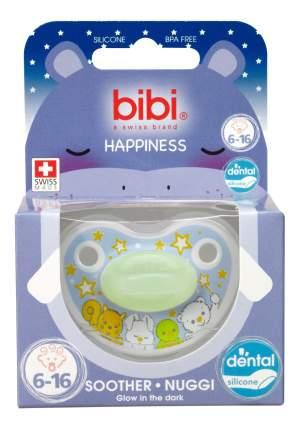 Силиконовая пустышка ортодонтическая bibi Premium Dental Happiness с 6 мес