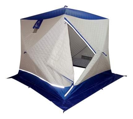 Палатка Пингвин Призма Премиум Термолайт трехместная бежевая/синяя