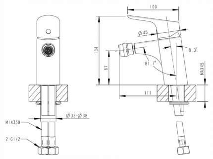 Смеситель для биде BRAVAT Drop F34898C F34898C