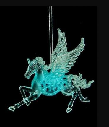 Елочная игрушка Crystal Deco Пегас 150196 15 см 1 шт.