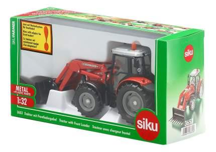 Спецтехника Siku Трактор с ковшом вилами 1:32