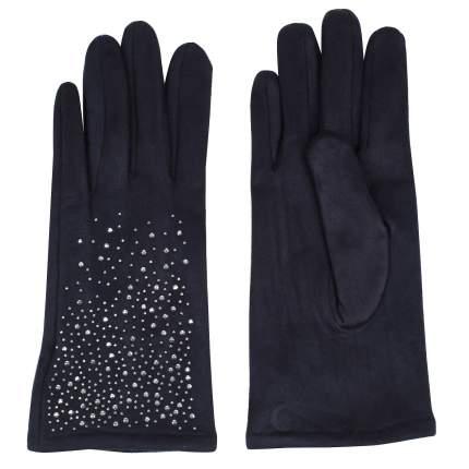 Женские синие перчатки со стразами Pia Rossini Kansas_navy