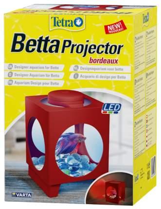 Аквариум для рыб Tetra Betta Projector, бордовый, 1,8 л