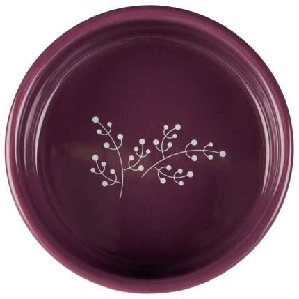 Одинарная миска для кошек TRIXIE, керамика, белый, фиолетовый, 0.3 л