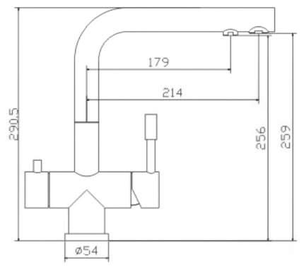 Смеситель для кухонной мойки Seaman SSN-1068 395339 хром