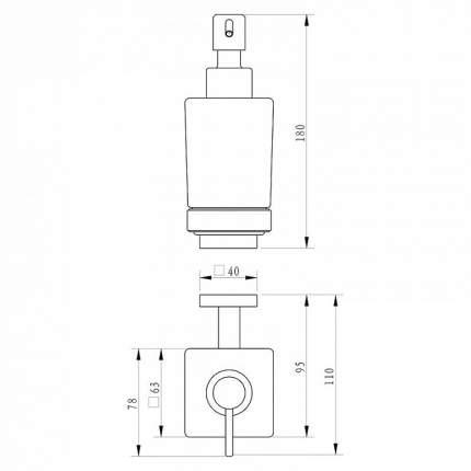 Дозатор для жидкого мыла Milardo Labrador LABSMG0M46