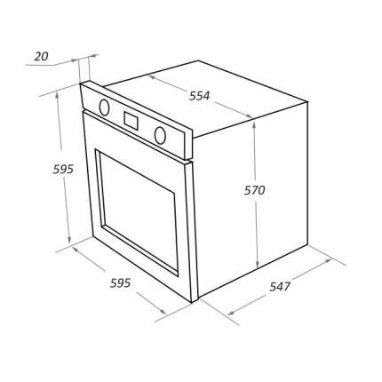 Встраиваемый электрический духовой шкаф  Maunfeld EOEM.769SB