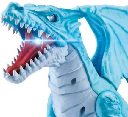 Робо Дракон Лёд атакующий Robo Alive Dragon ZURU голубой свет, звук Т16646