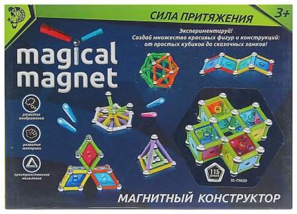 Конструктор магнитный Необычные фигуры, 115 деталей Sima-Land