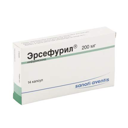 Эрсефурил капсулы 200 мг 14 шт.