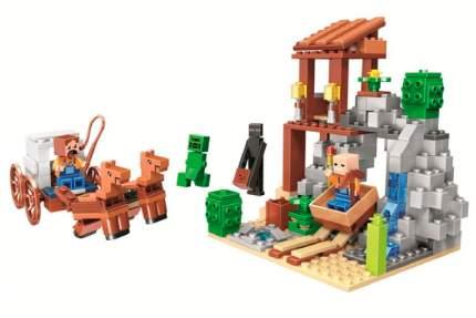Конструктор пластиковый BELA 11137 Minecraft Погоня