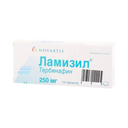 Ламизил таблетки 250 мг 14 шт.