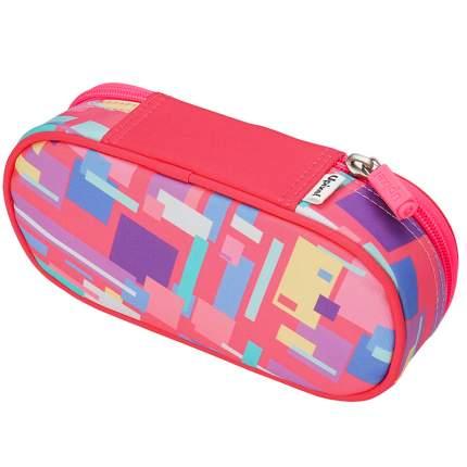 Пенал школьный пиксельный Upixel Super class pencil case WY-B012 Розовый принт
