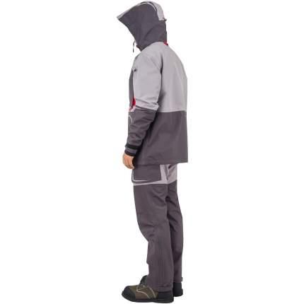 Куртка для рыбалки Nova Tour Fisherman Коаст Prime, серая/красная, XXXL INT, 188 см