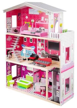 Кукольный дом Edufun с комплектом мебели 82x31x115