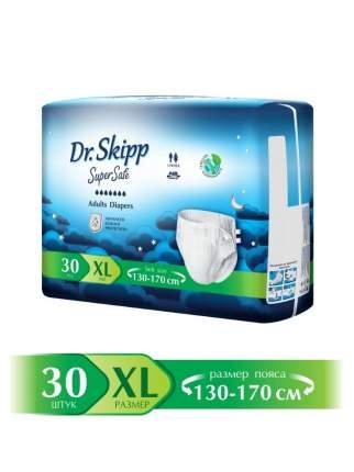 Подгузники для взрослых Dr.Skipp Super Safe, р.XL-4, (130-170 см), 30 шт., 8023