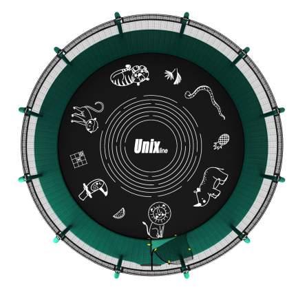 Батут UNIX line SUPREME GAME 14 ft green с внутренней сеткой TRUSUG14GR