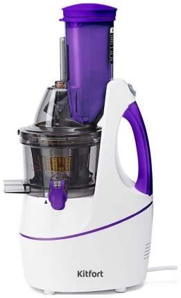 Соковыжималка шнековая Kitfort КТ-1104-3 White/Purple