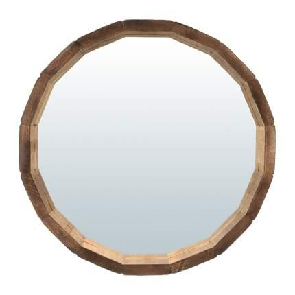 Зеркало-бочонок Банные штучки, состаренное, липа, 30 см