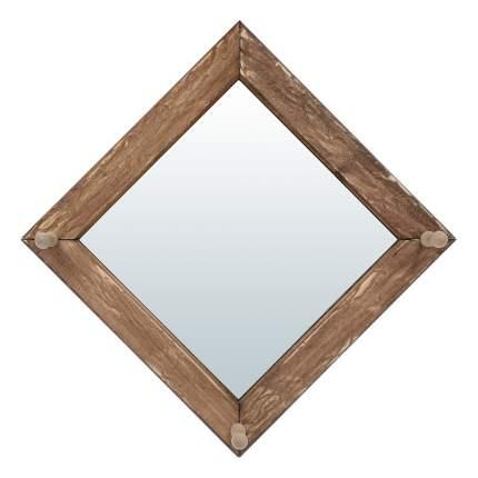 Зеркало с вешалкой Банные штучки, состаренное (3 рожка), липа, 30x30 см