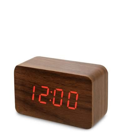 Часы электронные сред. (коричневое дерево с красной подсветкой) ЯЛ-07-05/ 1