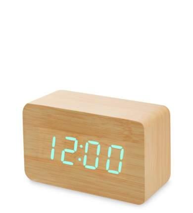 Часы электронные сред. (жёлтое дерево с зелёной подсветкой) ЯЛ-07-05/ 4