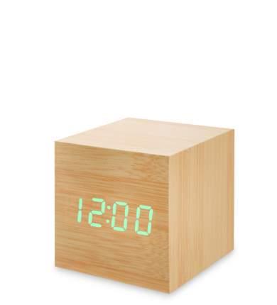 Часы электронные мал. (жёлтое дерево с зелёной подсветкой) ЯЛ-07-01/ 4