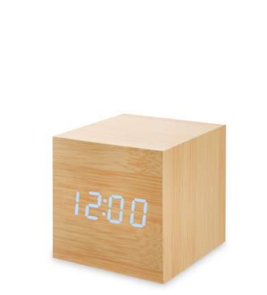 Часы электронные мал. (желтое дерево с голубой подсветкой) ЯЛ-07-01/10
