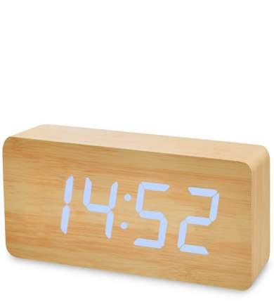 Часы электронные бол. (жёлтое дерево с синей подсветкой) ЯЛ-07-03/ 5