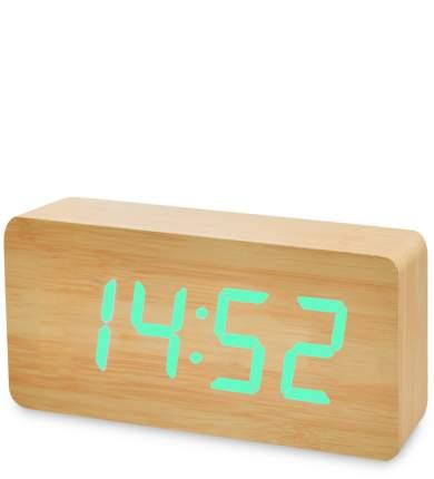 Часы электронные бол. (жёлтое дерево с зелёной подсветкой) ЯЛ-07-03/ 9
