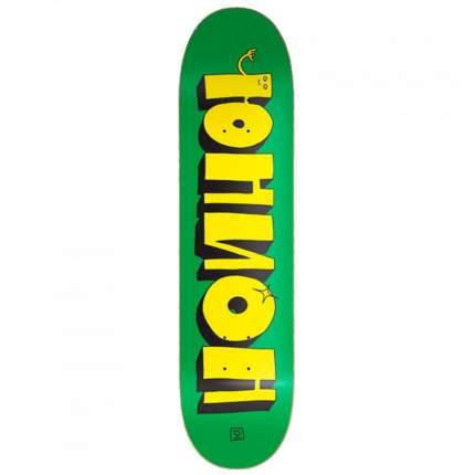 Дека для скейтборда Union Team 1, цвет green-yellow, размер 8,3x32,125, конкейв medium