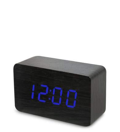 Часы электронные сред. (черное дерево с синей подсветкой) ЯЛ-07-05/ 8