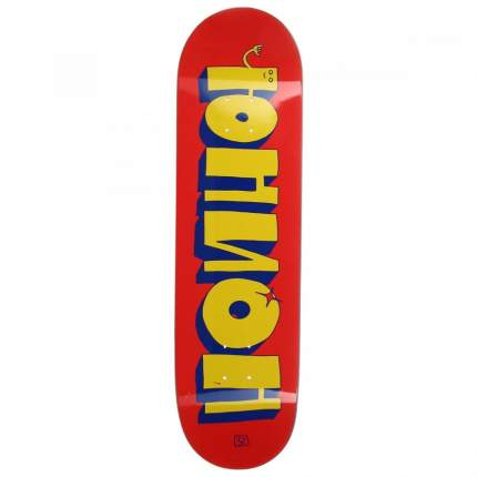 Дека для скейтборда Union Team 1, цвет red-yellow, размер 8,5x32,5, конкейв high