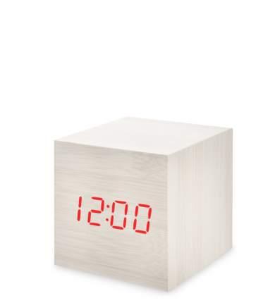 Часы электронные мал. (белое дерево с красной подсветкой) ЯЛ-07-01/14