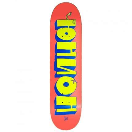Дека для скейтборда Union Team 3, цвет red-yellow, размер 8,25x32, конкейв medium