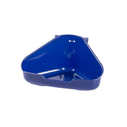 Туалет для мелких грызунов Duvo+, пластиковый угловой, синий, 1717107/DV