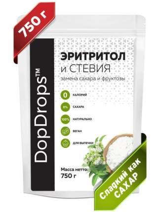 Натуральный сахарозаменитель DopDrops Эритритол со стевией идентичен сладости сахара 750 г