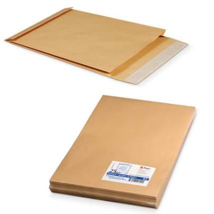 Конверт-пакеты В4 объемный 250х353х40 мм до 300 листов крафт-бумага отрывная полоса 25 шт