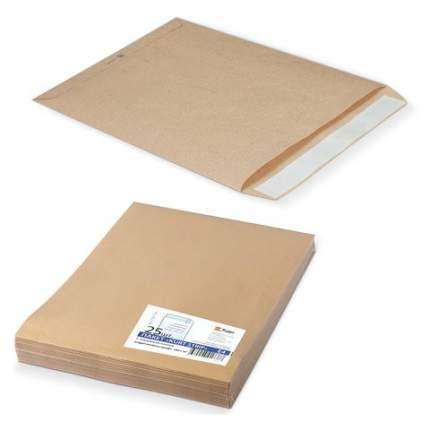 Конверт-пакеты Е4+ плоские 300х400 мм до 300 листов крафт-бумага отрывная полоса 25 шт