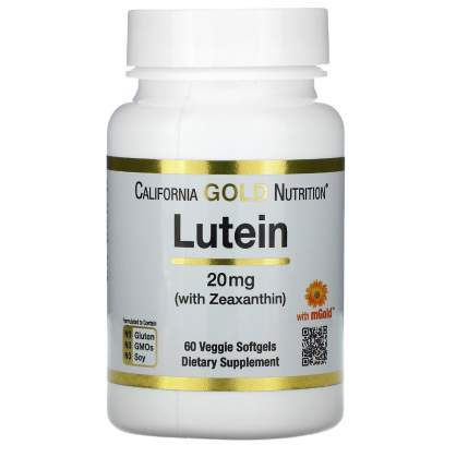 Lutein with Zeaxanthin California Gold Nutrition 20 мг капсулы 60 шт.