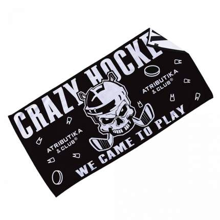 Полотенце ATRIBUTIKA & CLUB Crazy Hockey 70x140 21024(черно-белый)