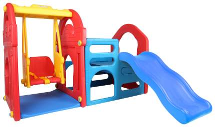 Детский игровой комплекс для дома и улицы Haenim Toy HN-708 горка-волна, качели, лаз