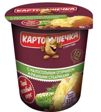 Пюре картофельное быстрого приготовления с малосольным огурцом и ржаными сухариками 50 г